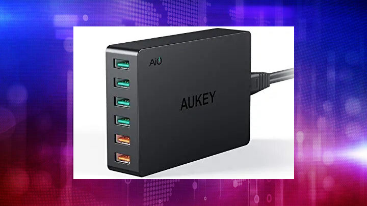 AUKEY Quick Charge 3.0 6-Port USB Wall Charger, 60W USB ...