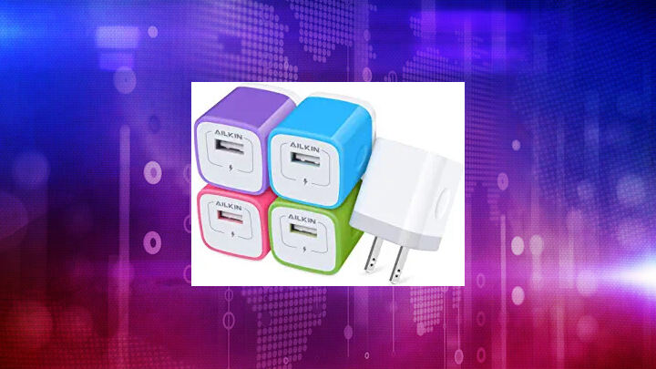 USB Charger Cube, Wall Charger Plug, Ailkin 1A 1-Port USB ...
